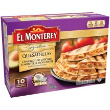 El Monterey® 10ct Charbrolied Chicken and Montery Jack Cheese Quesadilla 4oz