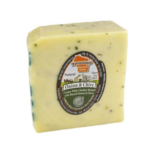 Henning's Onion And Chives Cheddar Cheese