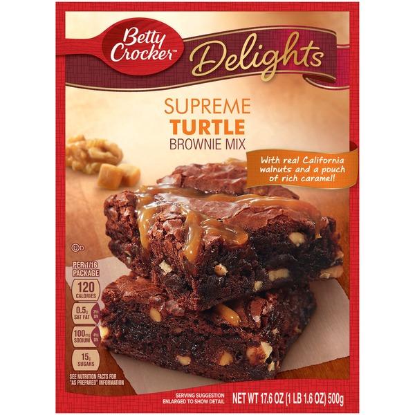 Betty Crocker Delights Supreme Walnut Brownie Mix