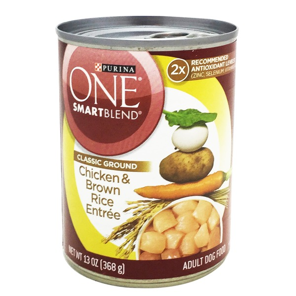 Purina One Dog Wet SmartBlend Classic Ground Chicken & Brown Rice Entree Adult Dog Food