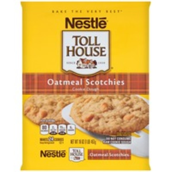 Toll House Oatmeal Scotchies Cookie Dough