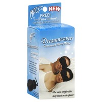 Macks Contoured Sleep Mask Dreamweaver Black With Earplugs