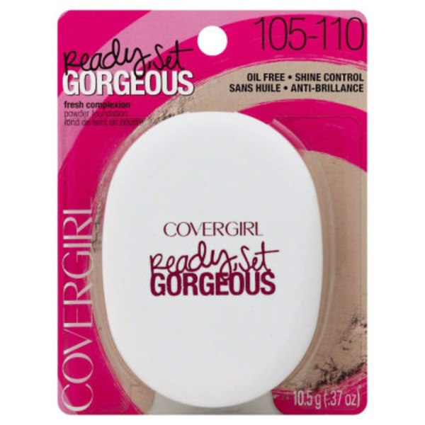 CoverGirl Ready Set Gorgeous COVERGIRL Ready, Set Gorgeous Pocket Powder Foundation, Fair .37 oz (10.5 g) Female Cosmetics
