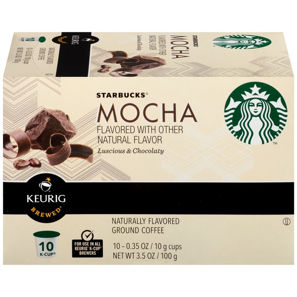 Starbucks Mocha Flavored K-Cups Ground Coffee