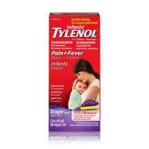 Infants' TYLENOL® Oral Suspension, Fever Reducer and Pain Reliever, Grape, 2 fl oz