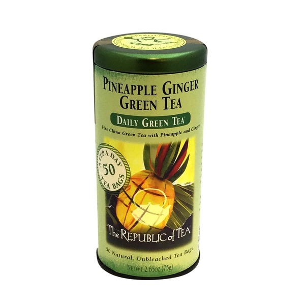 The Republic of Tea Pineapple Ginger Green Tea Bags