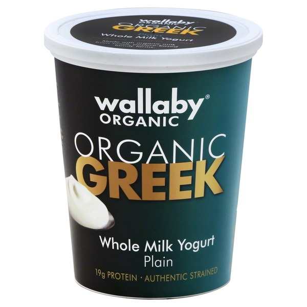 Wallaby. Organic Whole Milk Plain Greek Yogurt