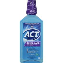 ACT Total Care Anticavity Fluoride Mouthwash, Icy Clean Mint, 33.8 Oz