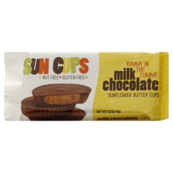 free2b Sun Cups Milk Chocolate - 2 CT