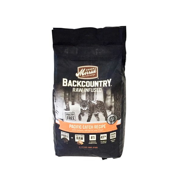 Merrick Backcountry Raw Infused Pacific Catch Recipe Cat Food