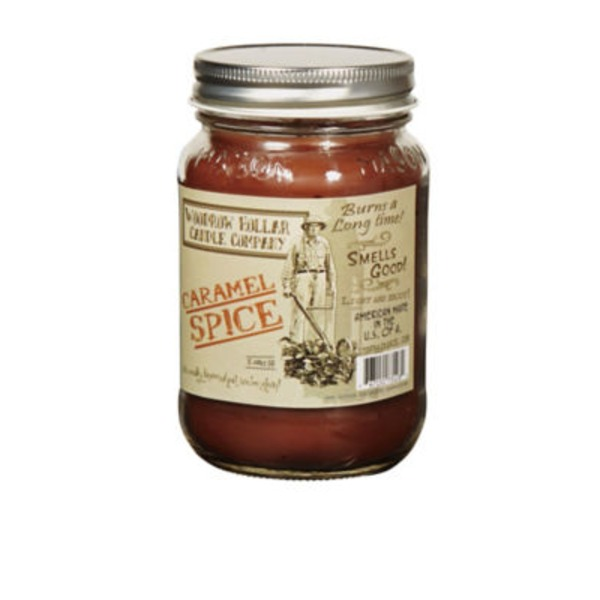 Woodrow Hollar Caramel Spice 12 Oz Candle Jar