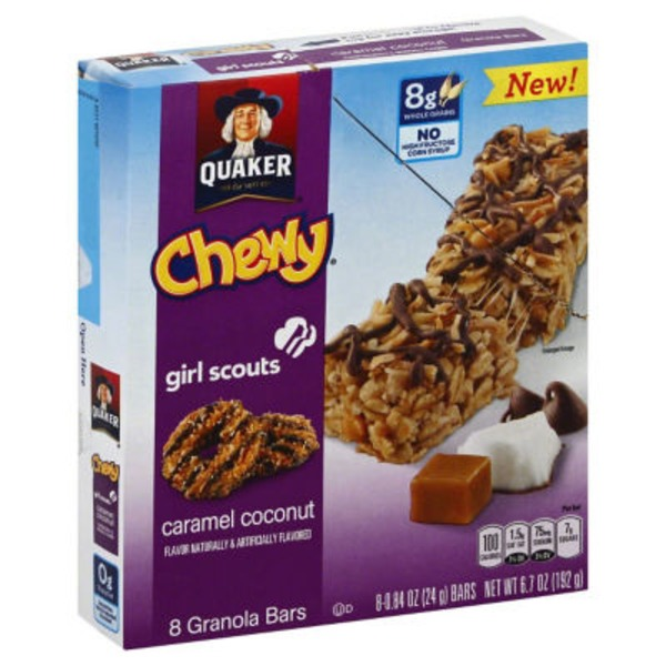 Quaker Chewy Girl Scouts Caramel Coconut Granola Bars