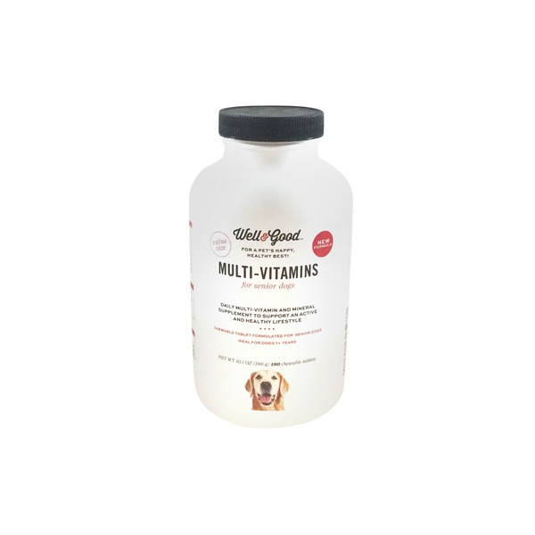 Well & Good Senior Stage Multi-Vitamins For Senior Dogs Chewable Tablets