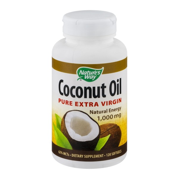 Nature's Way Coconut Oil Pure Extra Virgin 1,000mg - 120 CT
