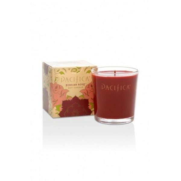 Pacifica Persian Rose Soy Wax Glass Candle 5oz