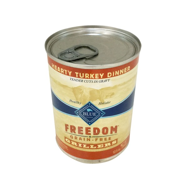 Blue Buffalo Dog Food, Moist, Freedom, Grillers, Hearty Turkey Lamb, Can