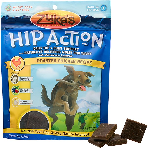 Zuke's Hip Action Hip & Joint Support Roasted Chicken Dog Treats