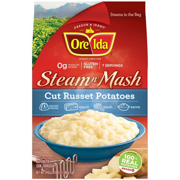 Ore Ida Cut Russet Potatoes Steam N' Mash