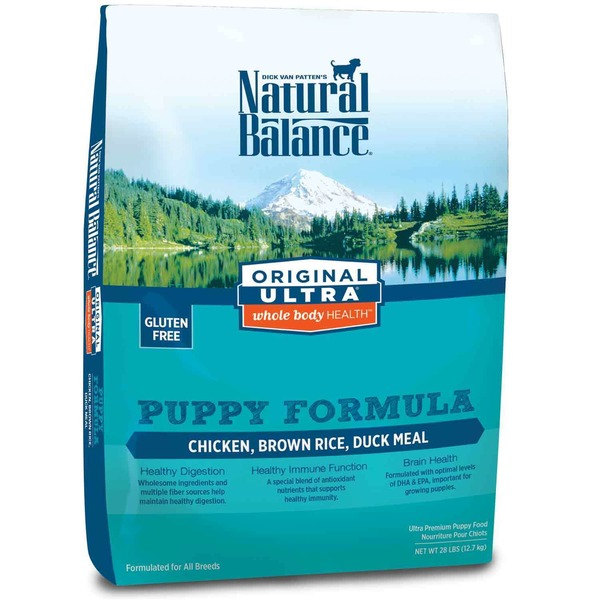 Natural Balance Original Ultra Whole Body Health Puppy Formula Chicken, Brown Rice, Duck Meal