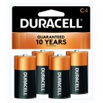 Duracell Coppertop Alkaline C Batteries, 4 Count