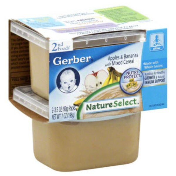 Gerber VitaBlocks Apples & Bananas with Mixed Cereal 2nd Foods