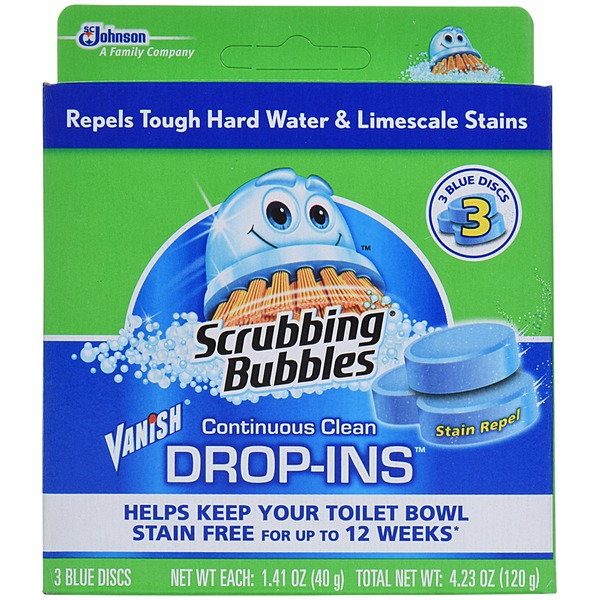Scrubbing Bubbles Vanish Continuous Clean Drop-Ins Blue Discs Toilet Cleaner
