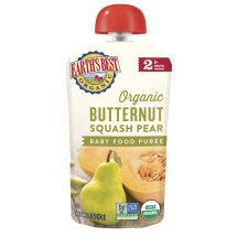 Earth's Best Organic Butternut Squash Pear Baby Food Puree Stage 2, 4.0 OZ