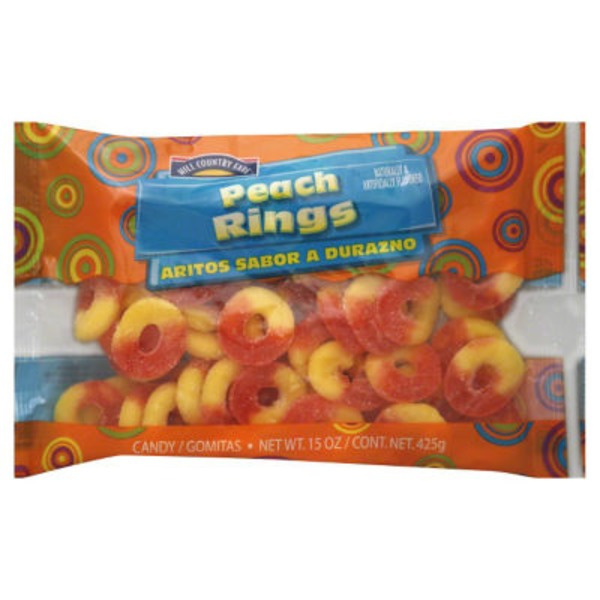 Hill Country Fare Peach Rings Candy