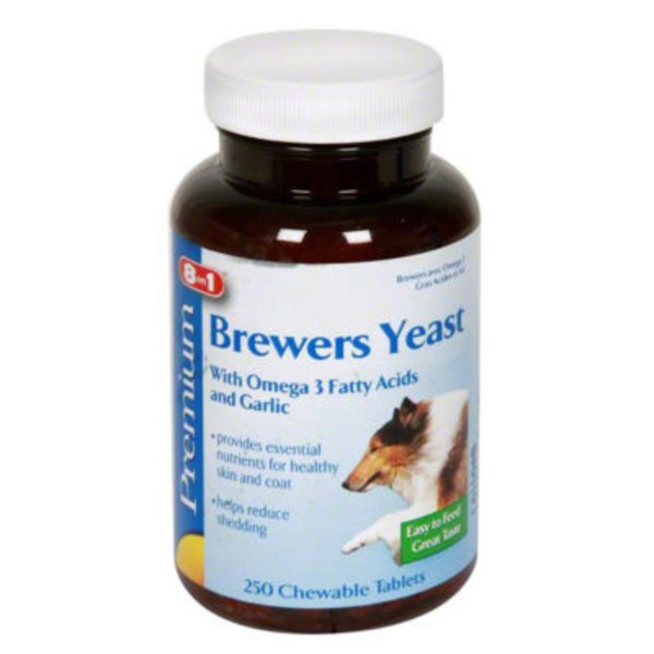 Ecotrition Premium Brewers Yeast With Omega 3 Fatty Acids And Garlic Chewable Tablets
