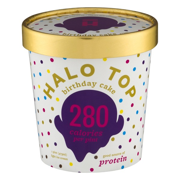 Halo Top Creamery Birthday Cake