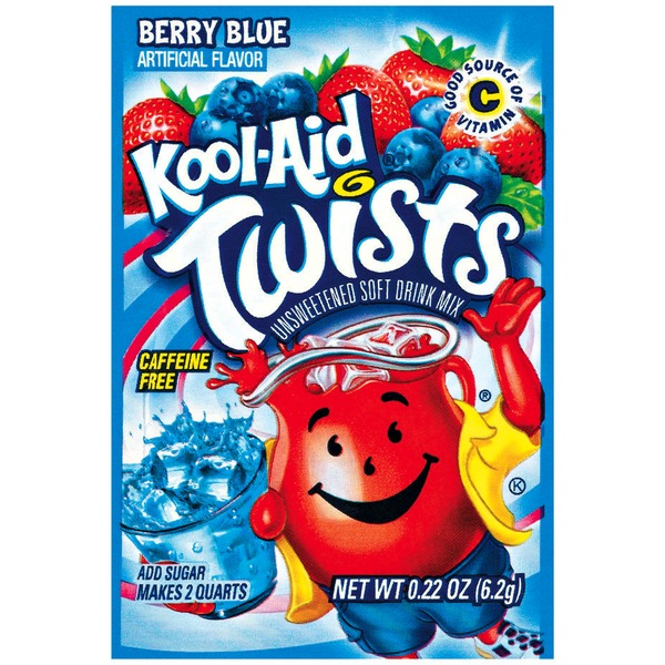 Kool-Aid Twists Berry Blue Unsweetened Drink Mix