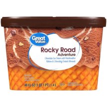 Great Value Rocky Road Ice Cream, 48 oz