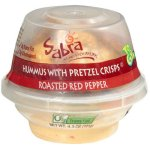Sabra Roasted Red Pepper Hummus With Pretzel Crisps, 4.3 oz