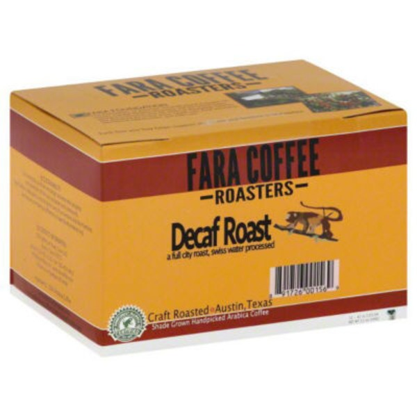 Fara Cafe Coffee Cafe Decaf Roast Single Serve Cups