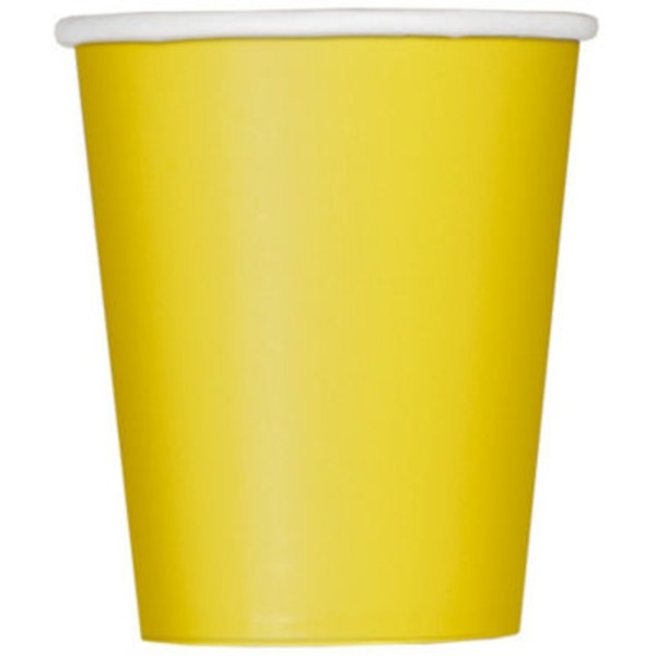 Unique 9 Oz Yellow Cups