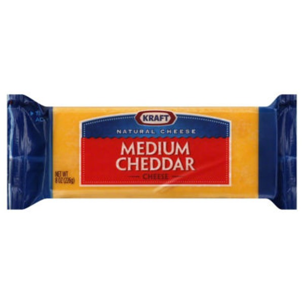 Kraft Natural Medium Cheddar Cheese Block