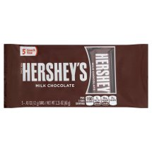 Hershey's Milk Chocolate Bars Snack Size, .45 oz, 5 count
