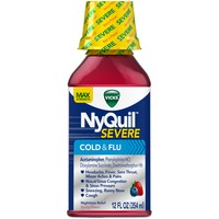 Vicks Severe Vicks NyQuil Severe Cold & Flu Nighttime Relief Berry Flavor Liquid 12 fl oz Respiratory Care