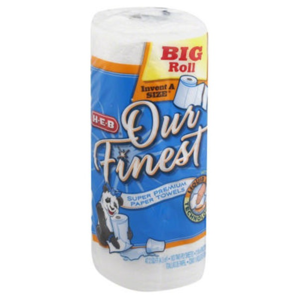 H-E-B Our Finest Liquid Lock White Choose A Size Paper Towels