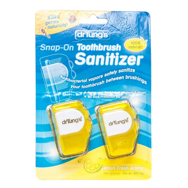 Dr Tungs Toothbrush Sanitizer, Snap-On, Fresh Mint Aroma