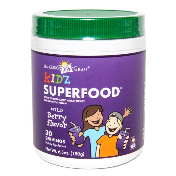 Amazing Grass Kidz Wild Berry Superfood Drink Powder