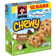 Quaker Chewy S'mores Granola Bars, 0.84 oz, 12 count