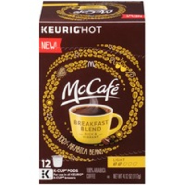 McCafe Breakfast Blend, Light Roast K-Cup Pods