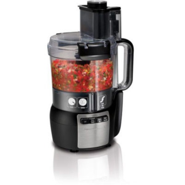 Hamilton Beach Black Stack & Snap 10 Cup Food Processor