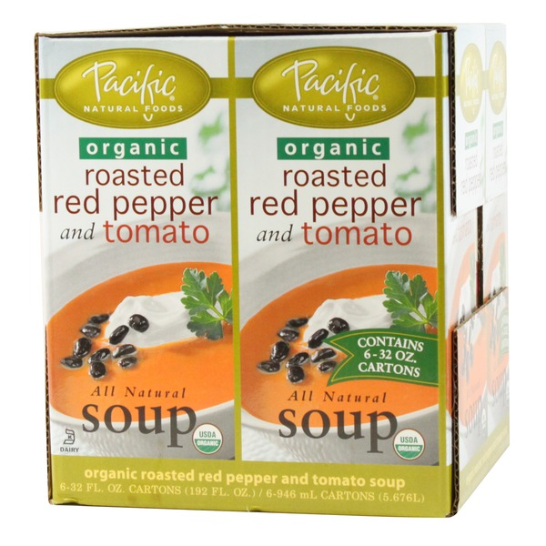 Pacific Foods Organic Roasted Red Pepper And Tomato Soup