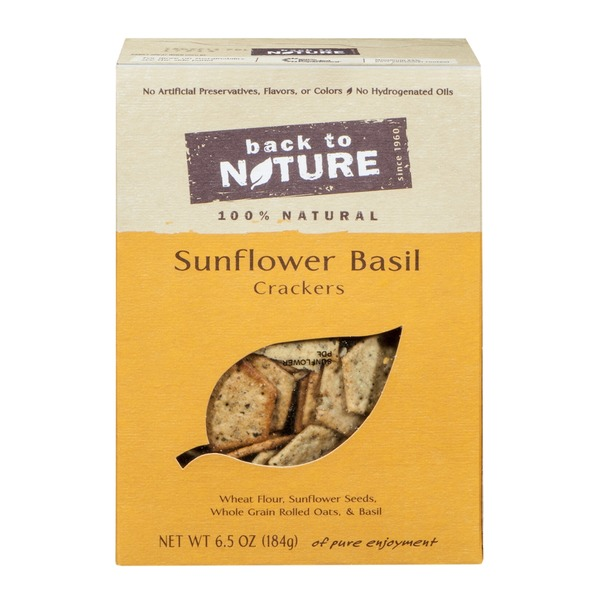 Back to Nature Sunflower Basil Cracker