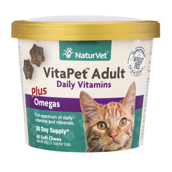 NaturVet VitaPet Adult Daily Vitamins for Cats