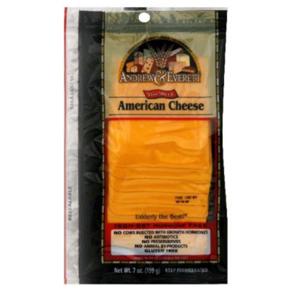 Andrew & Everett Thin Sliced American Cheese