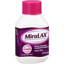 MiraLAX, Unflavored/Grit Free Laxative Powder, 8.3 Ounces, 14 Doses