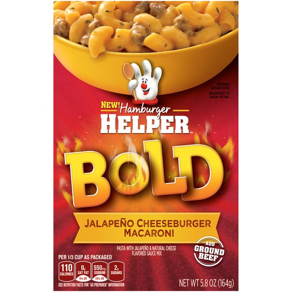 Betty Crocker Bold Jalapeno Cheeseburger Macaroni Hamburger Helper